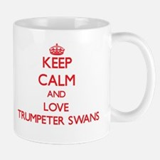 Keep calm and love Trumpeter Swans Mugs