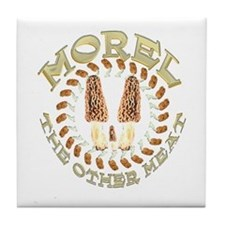 Morel the other meat Tile Coaster