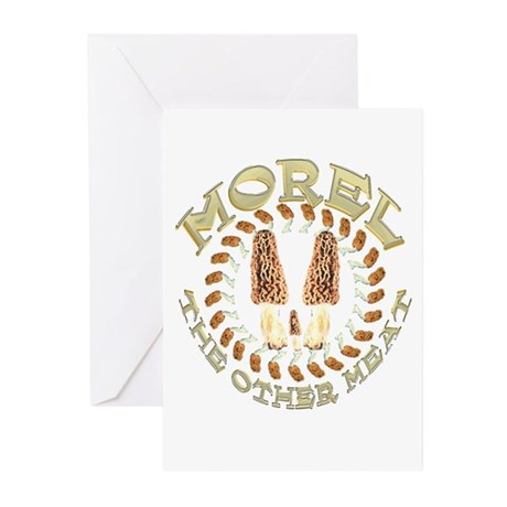 Morel the other meat Greeting Cards (Pk of 10)