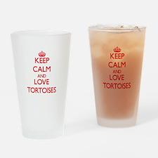 Keep calm and love Tortoises Drinking Glass