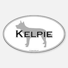 Kelpie Oval Oval Decal