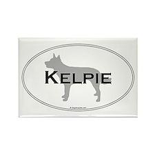 Kelpie Oval Rectangle Magnet