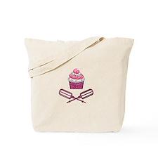 Cupcake & Crossed Beaters In Pink Tote Bag