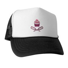 Cupcake & Crossed Beaters In Pink Trucker Hat