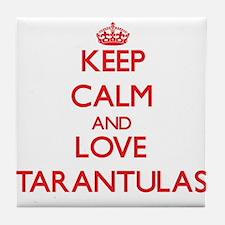 Keep calm and love Tarantulas Tile Coaster
