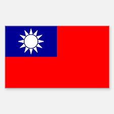 Taiwan Flag Sticker (rectangle)