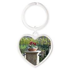Napa Valley, CA beautiful Day Heart Keychain