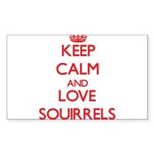 Keep calm and love Squirrels Decal