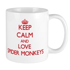 Keep calm and love Spider Monkeys Mugs