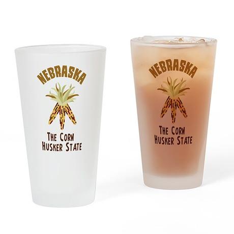 NEBRASKA CORN HUSKER STATE Drinking Glass