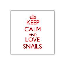 Keep calm and love Snails Sticker