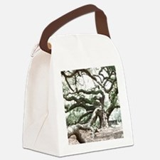 Angel Oak  Treee with photoshop  Canvas Lunch Bag