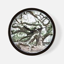 Angel Oak  Treee with photoshop  Wall Clock