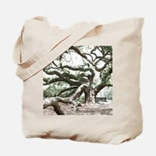 Angel Oak  Treee with photoshop  Tote Bag