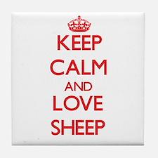 Keep calm and love Sheep Tile Coaster