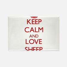 Keep calm and love Sheep Magnets