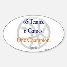 One Champion BBall 07-a Oval Decal