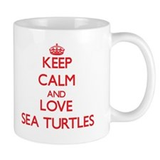 Keep calm and love Sea Turtles Mugs