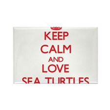 Keep calm and love Sea Turtles Magnets
