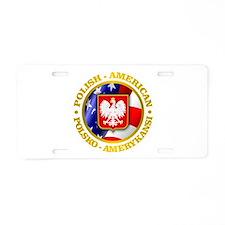 Polish American Aluminum License Plate