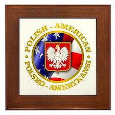 Polish American Framed Tile