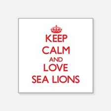 Keep calm and love Sea Lions Sticker