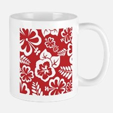 Red Tropical Flowers Mugs