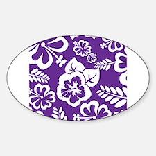 Purple tropical flowers Decal