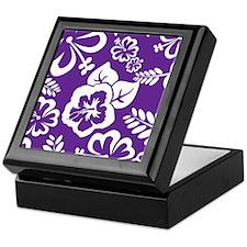 Purple tropical flowers Keepsake Box