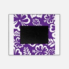 Purple tropical flowers Picture Frame