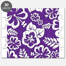 Purple tropical flowers Puzzle
