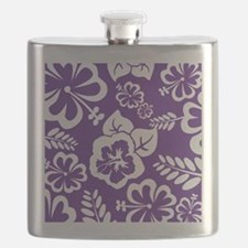 Purple tropical flowers Flask