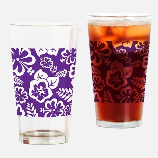 Purple tropical flowers Drinking Glass