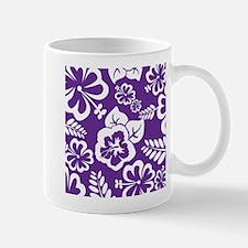 Purple tropical flowers Mugs