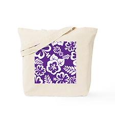 Purple tropical flowers Tote Bag
