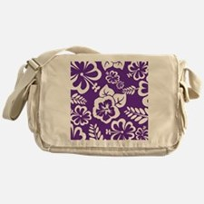 Purple tropical flowers Messenger Bag