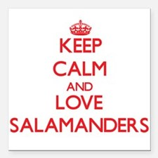 Keep calm and love Salamanders Square Car Magnet 3