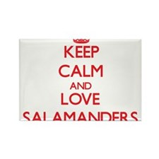 Keep calm and love Salamanders Magnets