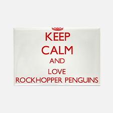 Keep calm and love Rockhopper Penguins Magnets