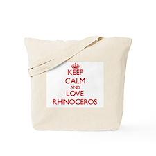 Keep calm and love Rhinoceros Tote Bag