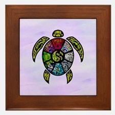 Turtle Ba-Gua Framed Tile
