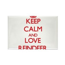 Keep calm and love Reindeer Magnets