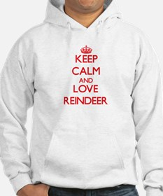 Keep calm and love Reindeer Hoodie