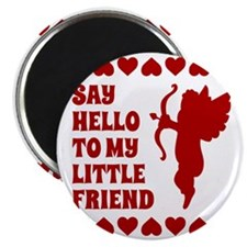 Heart Cupid Little Friend Valentines Day Magnet