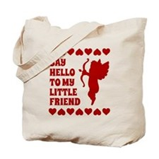 Heart Cupid Little Friend Valentines Day Tote Bag