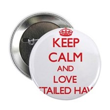 "Keep calm and love Red-Tailed Hawks 2.25"" Button"