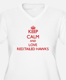 Keep calm and love Red-Tailed Hawks Plus Size T-Sh