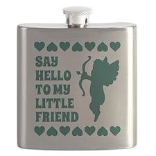 Blue Heart Cupid Little Friend Valentines Da Flask