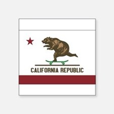California Skateboarding Bear Flag Sticker