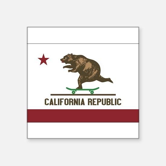 California Skateboarding Bear Flag Sticker